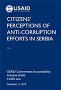Citizens' Perceptions of Anticorruption Efforts in Serbia