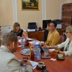 Visit to Sombor - Mayor Golubovic and Helen Roksandic Musulin with USAID and GAI representatives