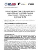 Recommendations for Improving Internal Rulebook for Whistleblowing in Local Self-Governments