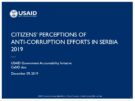 Citizens' Perceptions of Anti-Corruption Efforts in Serbia 2019
